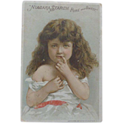Trade Card Shy Little Girl for Niagara Starch