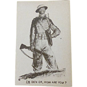 Military Postcard 1943 Solider