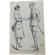 Postcard 1905 WW1  L'entente Cordiale