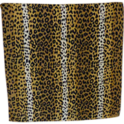 Tiger Pattern Silk Scarf ~ Echo Label