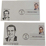 Richard Nixon Two First Day Covers 1995