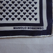 Hankie Manolo Borromeo Italy Designer