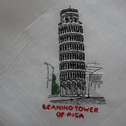 Hankie of Leaning Tower of Pisa, Italy