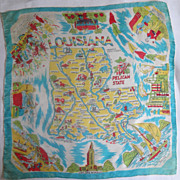 Louisiana State Hankie Old Silk