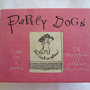 Party Dog Matches Set of 24 Matchbooks