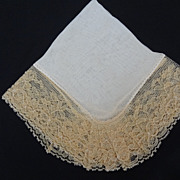 Vintage Pocket Hankie Silk and Lace