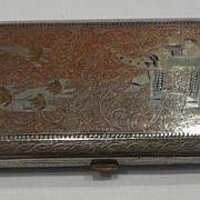 Lovely Persian Metal Enameled Cigarette Case