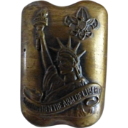 3 Boy Scout Slides~ Brass Statue of Liberty Slide