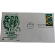 Girl Scout First Day Cover 1987