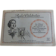 Wills Cigarette Card Album Radio Celebrities 1934 Complete