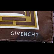 Vintage Givenchy Silk Neck Scarf