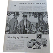 Vintage 1938 Advertisement Yardley of London Cosmetics