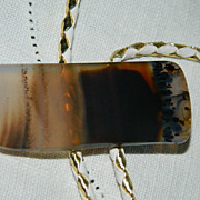 One of a Kind Scenic Agate Bolo Tie