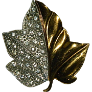 Beautiful Alfred Philippe for Trifari Maple Leaf Brooch ~ 1938