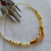 Gorgeous Napier Creamy Lucite Beaded Necklace ~ Bold Statement