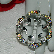 My Favorite Circle Pin ~ Glorious Opaline Stone Brooch
