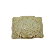 Romantic Celluloid Cameo Trinket Box