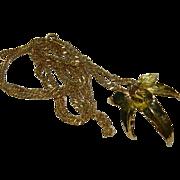 Lovely 24k Gold Dipped Real Leaf Pendant