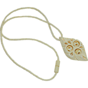Bobble Ball Carved Bone Necklace