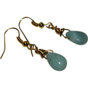 Hand Made Peruvian Opal Briolette Earrings in Gold Filled Wire