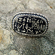 Amazing Vintage Egyptian Revival Mid Century Cuff Links