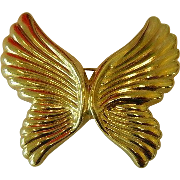 Free Shipping! Lovely Vintage Art Nouveau Style Butterfly Brooch,