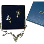 Avon Gloriana Earrings & Necklace Set ~ In Original Box