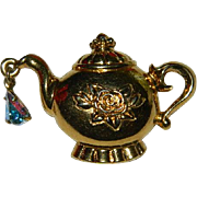 Sweet Avon Tea Pot Pin Brooch