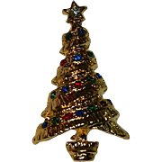 Collectable Vintage Christmas Tree Brooch