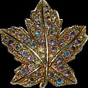 "Vintage ""Keyes"" Designer Maple Leaf Brooch"