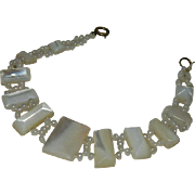 Antique Victorian Mother of Pearl Seed Bead Bracelet
