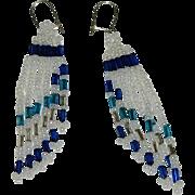 Native American Beaded Dangler Drape Earrings