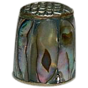 Sterling Silver Mother of Pearl Thimble