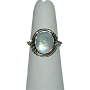 Sublime Genuine Moonstone Sterling Silver Ring ~ Sz 7