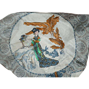 Chinese Silk Scarf Lady Images by Triangle Brand