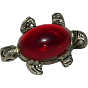 Very Early Jelly Belly Sterling Silver Turtle Pin