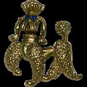 Proud Poodle 18k Gold Leaf Rhinestone Brooch