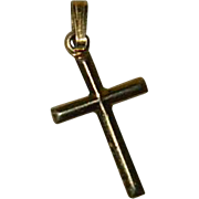 Tiny 14k Gold Filled Cross Charm Pendant
