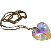 World's Best Swarovski Crystal Heart Pendant on GF Chain ~ Huge 2""