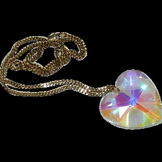 "World's Best Swarovski Crystal Heart Pendant on GF Chain ~ Huge 2"""