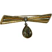 Monet' Impressive Crystal Bar Brooch