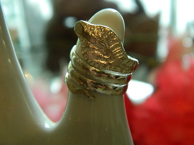 Vintage Snake Coil Pinky Ring ~sz 4