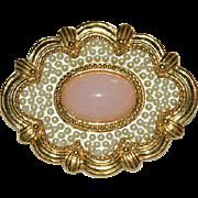 Vintage Avon Pink Victorian Revival Brooch