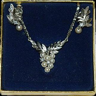 "Avon ""Glorianna"" Necklace & Earring Set in Original Box"