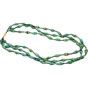 Early Celluloid & Paper Beaded Necklace