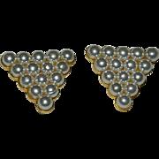 Pristine Faux Pearl Shoe Clips ~ A