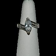 Gorgeous Avon Faux Diamond Channel Set Cocktail Ring sz 8.5