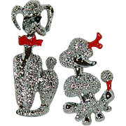 Pair of Mr. Mrs. Poodle Dog Pins