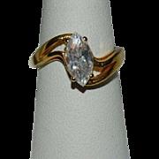 Gorgeous 2.5 ct Faux Diamond Solitaire Ring sz 7