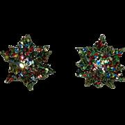 Christmas Snowflake Earrings Glittering!